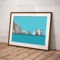 The Needles, Isle of Wight by Maxine Walter