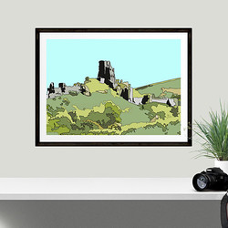 Corfe Castle by Maxine Walter