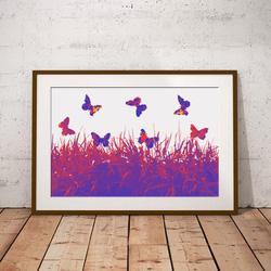 Ombre Butterflies by Maxine Walter