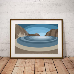 Lulworth Cove by Maxine Walter from £45