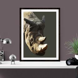 Rhino by Maxine Walter