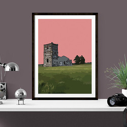 Knowlton Church by Maxine Walter