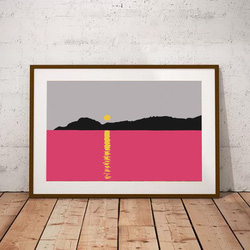 Magenta Sunset by Maxine Walter