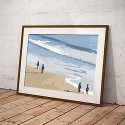 Beach Strollers by Maxine Walter