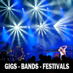 GIGS, BANDS & FESTIVALS portfolio
