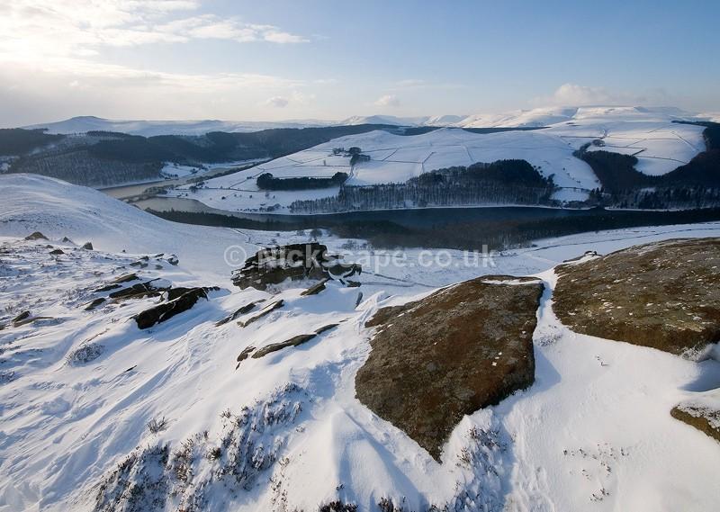 Deep Snow at Whinstone Lee Tor   Peak District Snow Scene