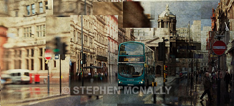 Liverpool Bus - Photographic Cubism