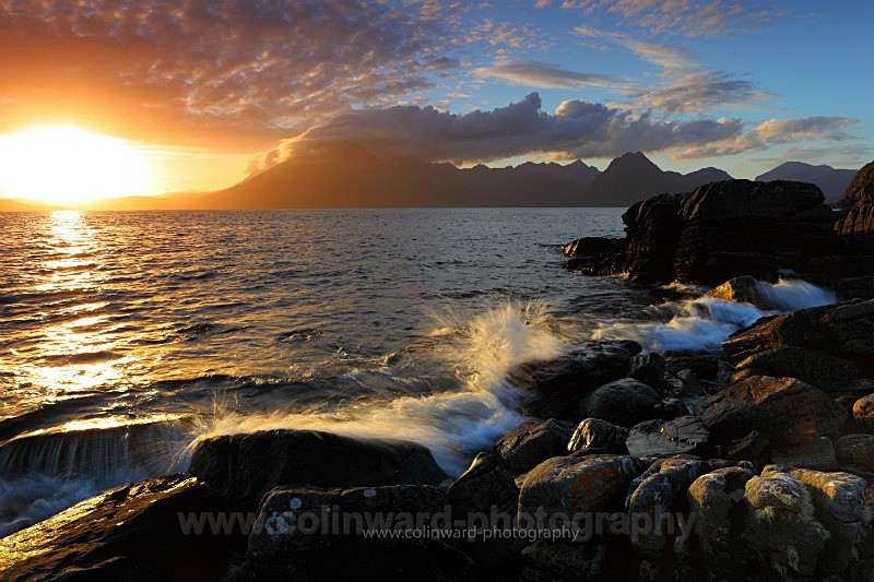 Cuillin Mountains looking from Elgol, Skye - West Highlands