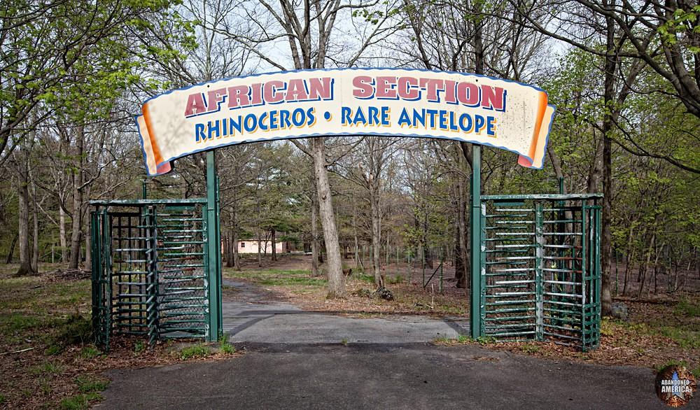 Catskill Game Farm (Catskill, NY)   African Section Entrance Sign - Catskill Game Farm