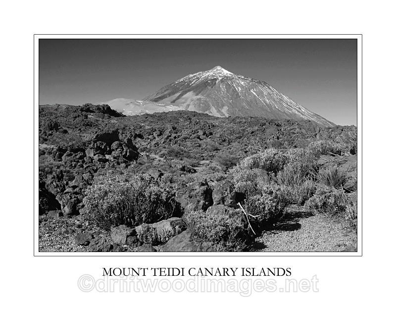 Tenerife Teidi and vegetation - Tenerife Mount Teidi