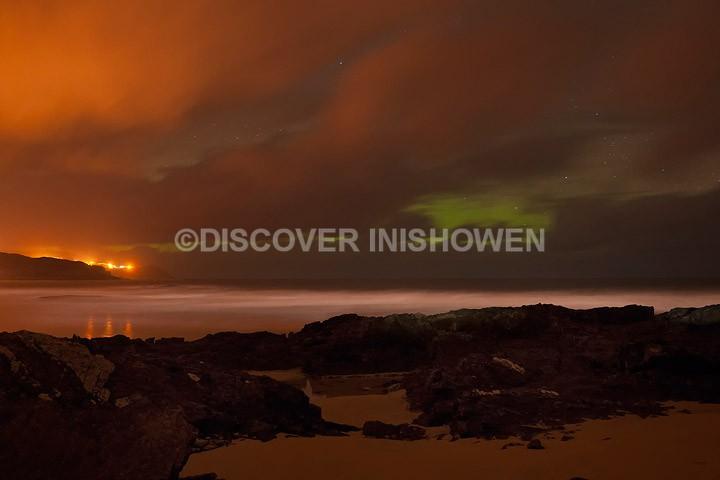 Aurora Borealis, Culdaff Beach - Inishowen peninsula
