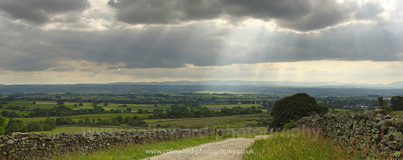 Crepuscular rays over the Eden Valley - The Pennines and The Lake District