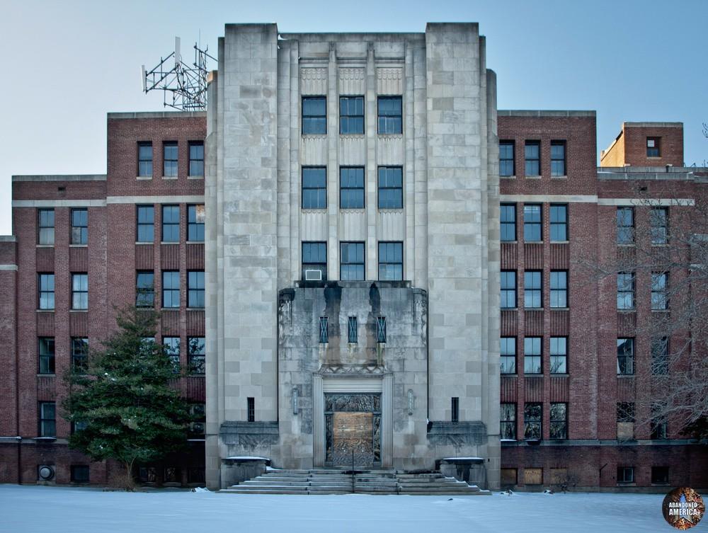 Undercliff Sanatorium (Meriden, CT) | Art Deco Entrance Detail - Undercliff Sanatorium