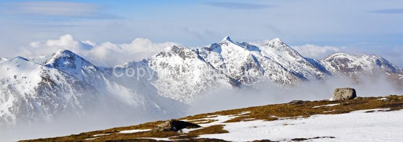 Ben Cruachan from Beinn a Chochuill, Argyll  Bute - Panoramic format