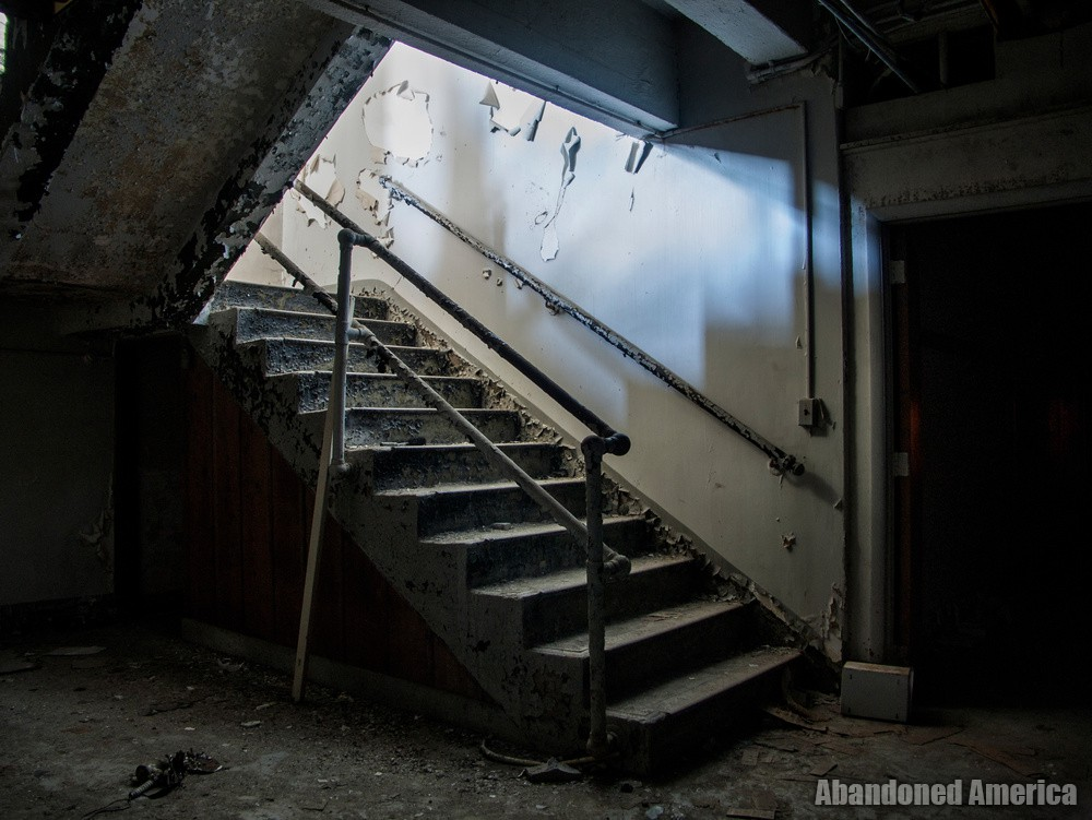 Montebello Hospital (Baltimore, MD) | Basement Stairway - Sydenham Hospital for Communicable Diseases