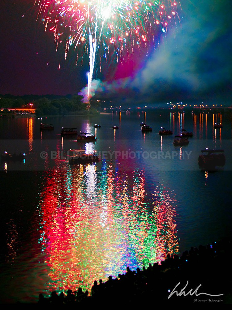 Fireworks Reflections - Harrisburg Area, Pennsylvania
