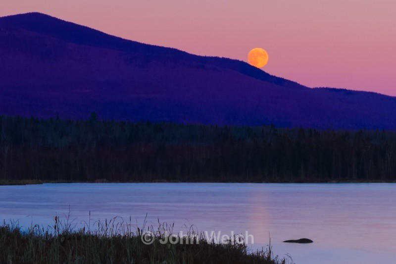 Cherry Pond Moonrise - White Mountain National Forest and Northern New Hampshire