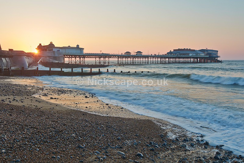 Sunset behind Cromer Pier - Norfolk Coast by Nickscape
