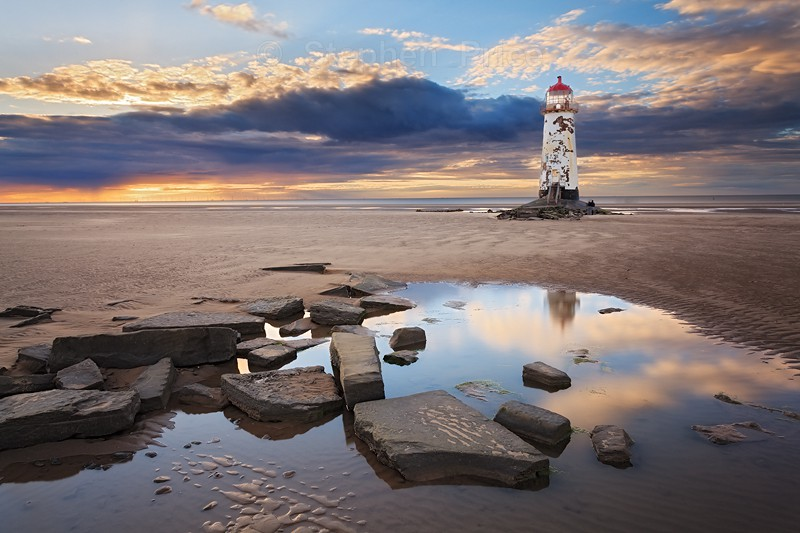 Beach Lighthouse | Talacre, North Wales At Sunset
