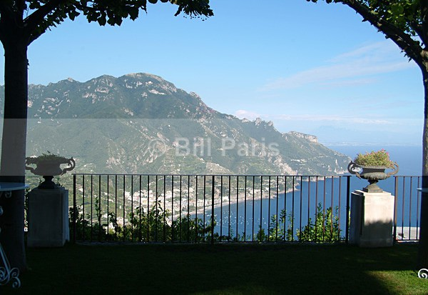 The Gulf of Salerno from Ravello. - Land and Sea