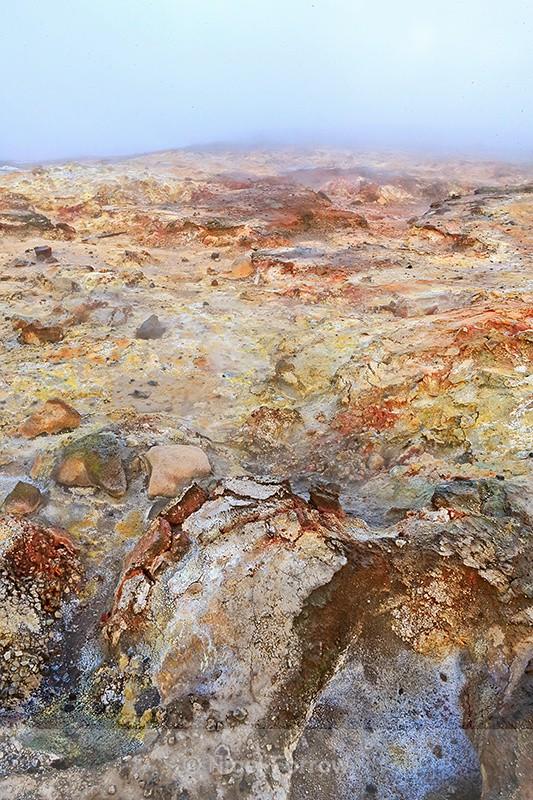 Colourful rocks at Gunnuhver Hot Springs, Iceland - Iceland