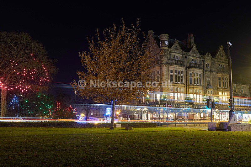 Christmas in Harrogate - Bettys Tea Rooms at night - Winter 2016