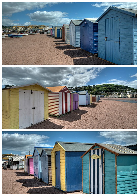 TS21 Beach Huts Teignmouth Back Beach - Greetings Cards Teignmouth and Shaldon