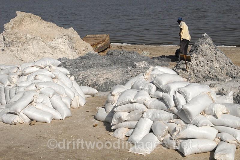 Senegal Lac Rose salt production 8 - Salt Production in Senegal