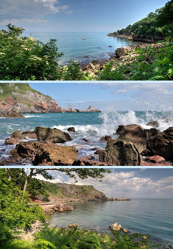 TQ17  - Ansteys Cove Torquay - Greetings Cards Meadfoot Beach and Ansteys Cove Torquay