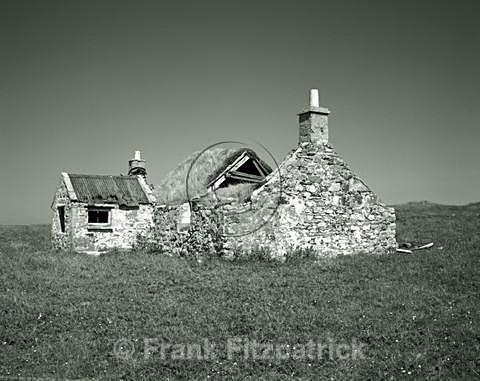 Derelict croft house, North Uist, Outer Hebrides - North Uist