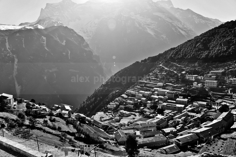Namche Bazaar at 3750m - Landscape & Seascape