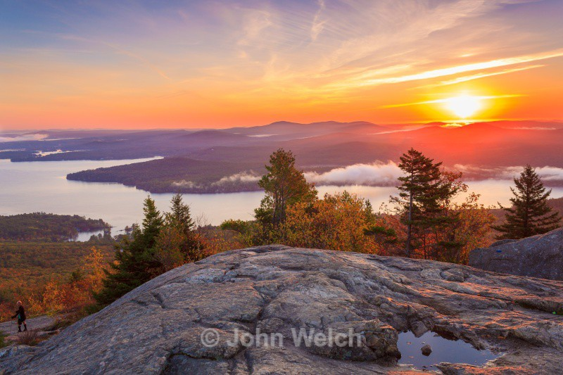 Hiking down Mt. Major at Sunrise - Lakes Region & Southern New Hampshire