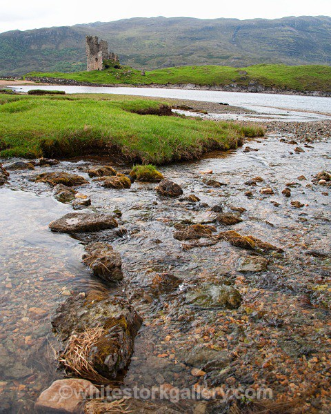 Castle at Lock Assynt - Scottish Highlands