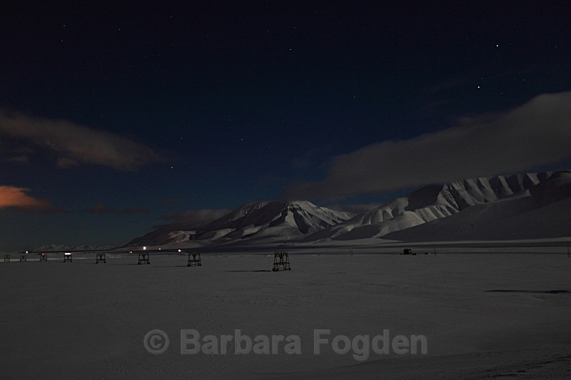Adventdalen at full moon 5011 - Polar night