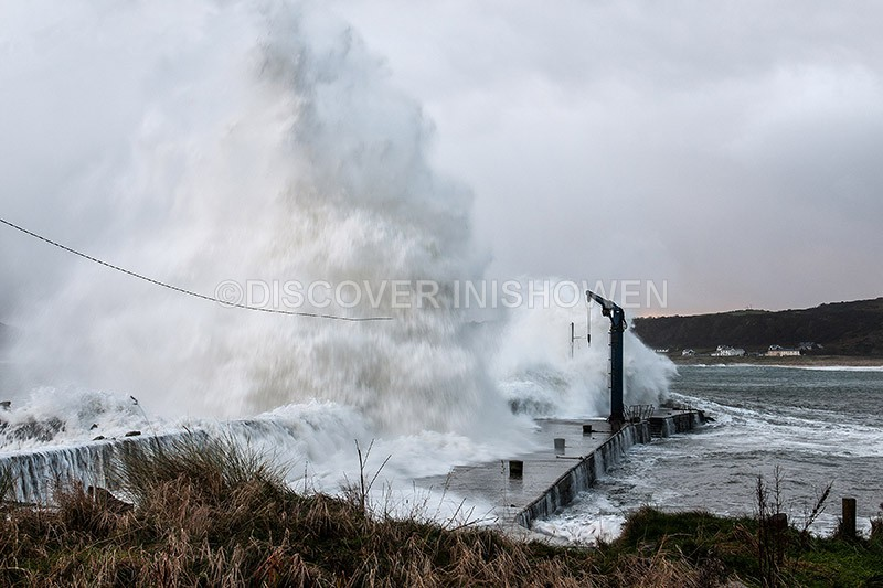 Bunagee Pier, Culdaff - Black Wednesday-Weather Bomb