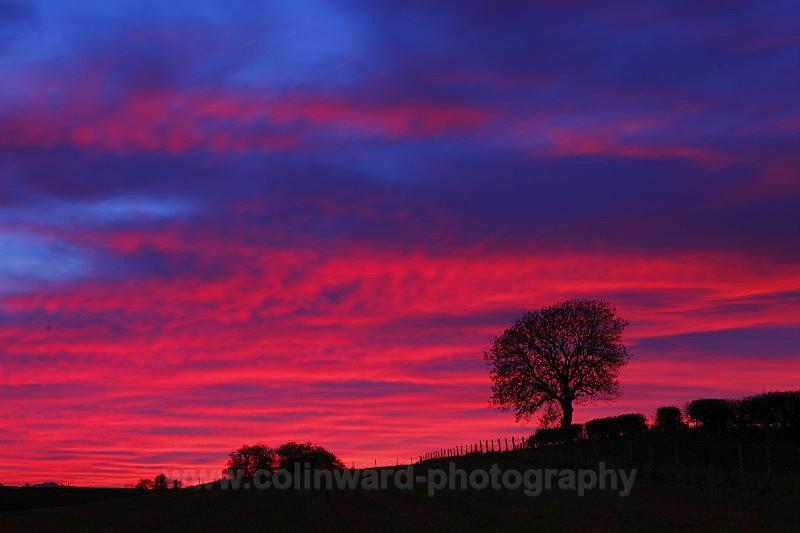Sunset near West Cornforth - County Durham