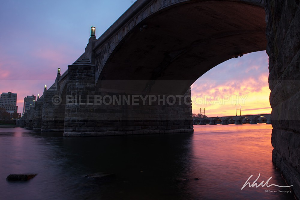 Market St Bridge before sunrise - Harrisburg Area, Pennsylvania
