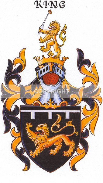 The King Family - CC-104 - Heritage Family Name and Coat of Arms Store