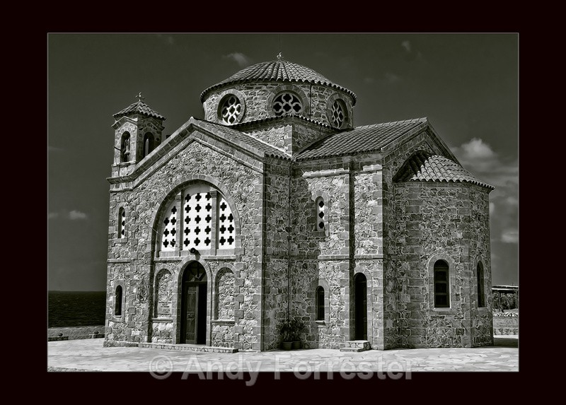 Church in Cyprus - Black and White