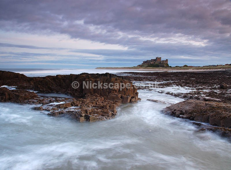 Stormy Seascape at Bamburgh Castle   Northumberland Landscape Photography