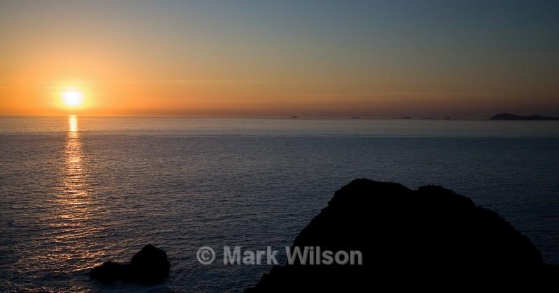 garland stone sunset - Sunrise and sunset