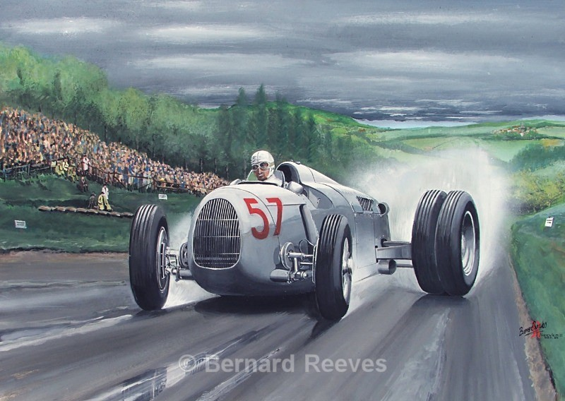 Auto Union at Shelsley Walsh 1936 - Classic cars