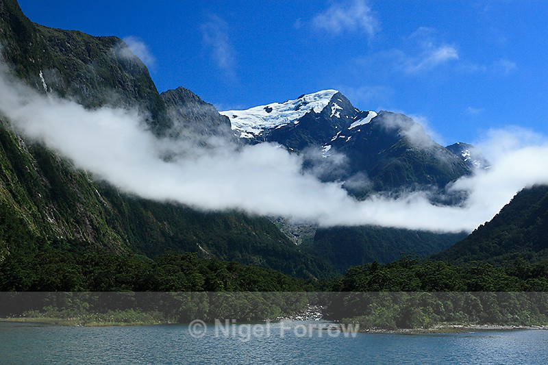 Mills Peak & Harrison River from Harrison Cove - New Zealand