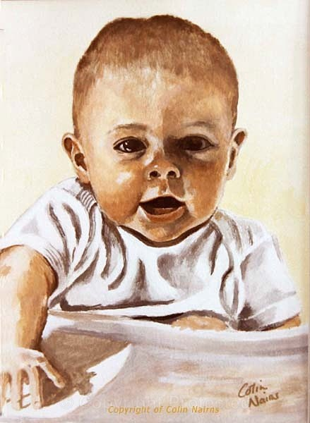 'Baby portrait' - Commissioned Work
