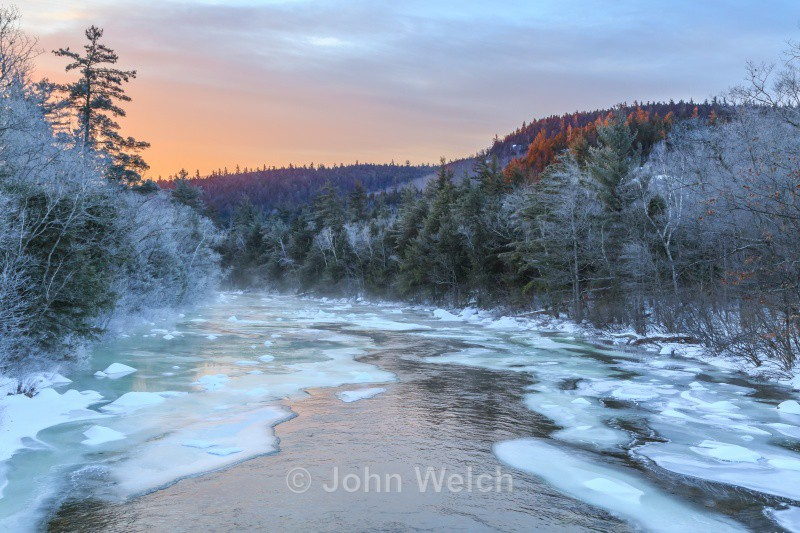 Swift River Winter Sunrise - Winter