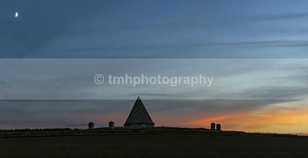Pyramid Moon - Low Light Photography