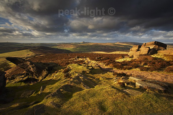 Path across the Roaches - Peak District