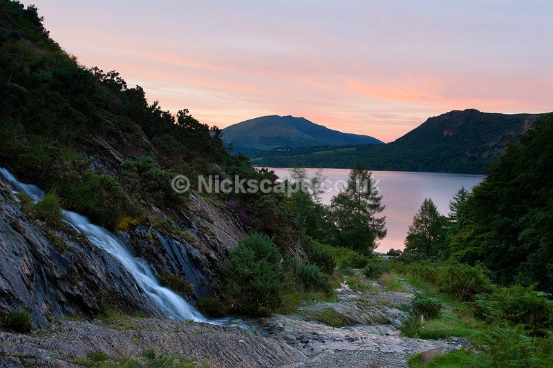 Waterfall above Brandelhow Bay - Lake District - Cumbria67 - Lake District National Park