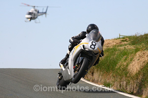 Guy Martin helicopter picture, TT 2010 Superbike Race
