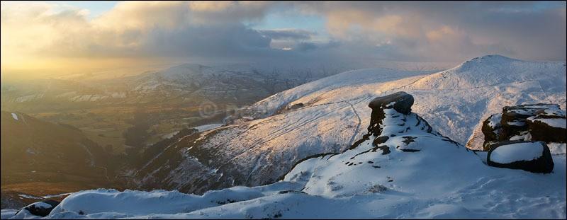 Kinder Scout Panoramic - Peak District Winter